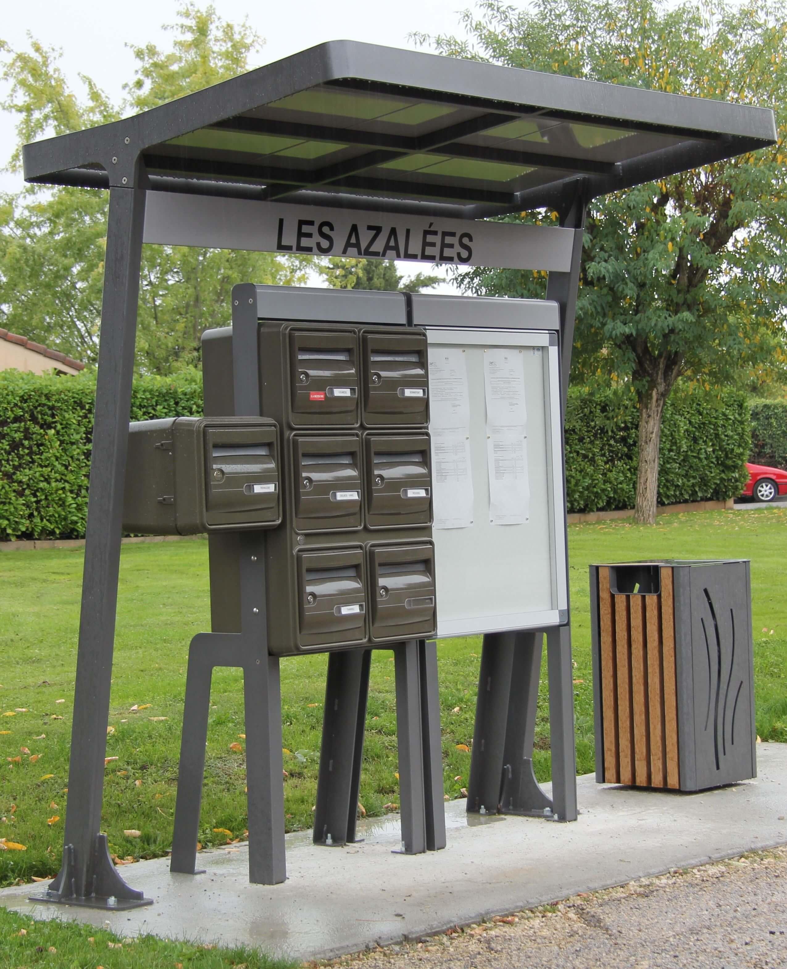 Sp cialiste de la boite aux lettres for Kiosque exterieur design